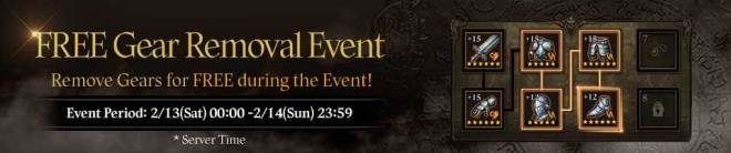 HEIR OF LIGHT: Event - [Event] Free Gear Removal Event (2/13 ~ 2/14 CST) image 1