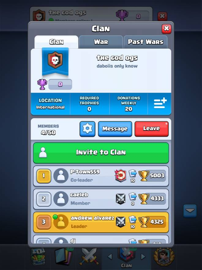 Clash Royale: Recruiting - Join my clan for clan wars image 1