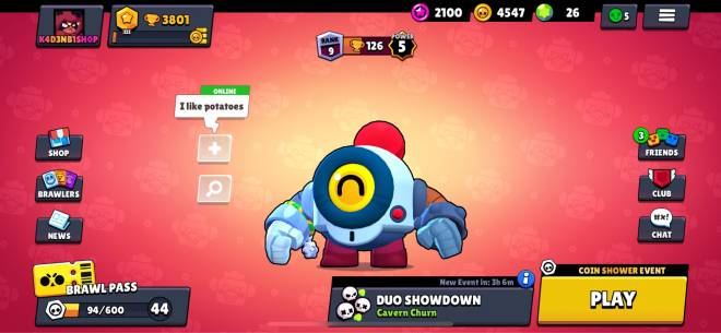 Brawl Stars: General - At 3800 trophies trying to push brawlers up in duos need decent players image 1