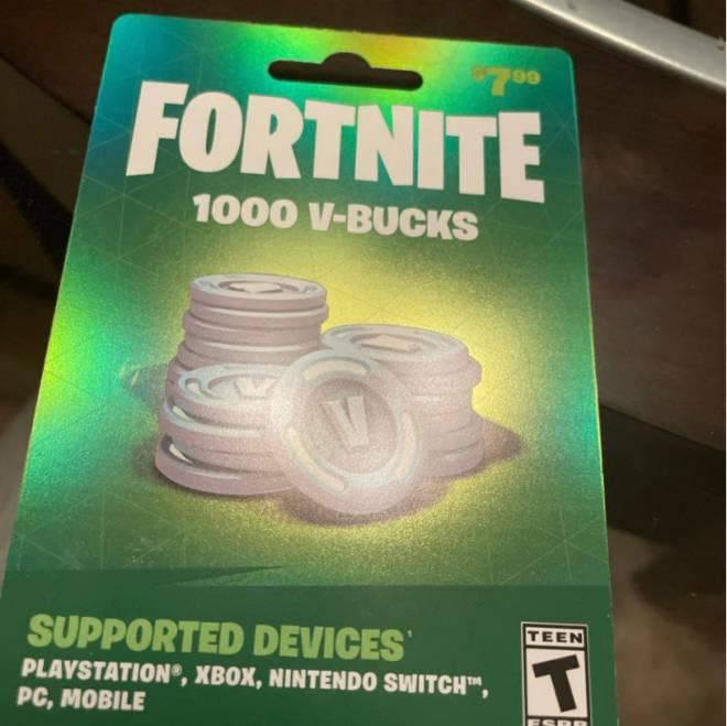 Fortnite: General - 1000 Fortnite VBucks Gift Card image 2