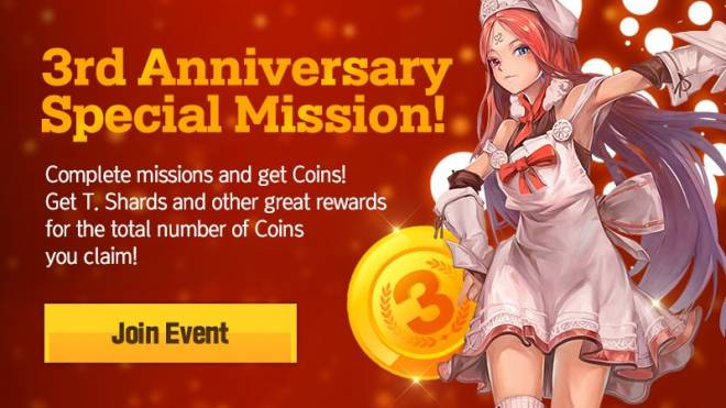 HEIR OF LIGHT: Event - [Event] 3rd Anniversary Special Mission (3/5 ~ 4/5 CST) image 1