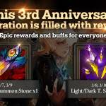 [Event] 3rd Year Anniversary Log-In & Buff Event (3/7 ~ 3/10 CST)