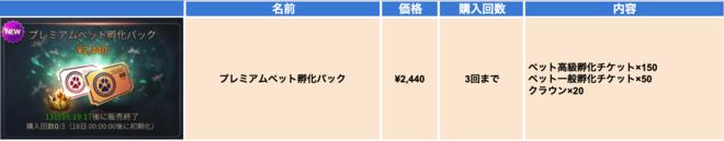 Hundred Soul (JPN): Notice - 【お知らせ】出現率増加ペット孵化の開催・プレミアムペット孵化パック販売のお知らせ image 9