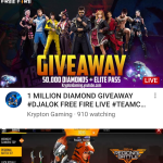 Hury Up! Gerena FREE FIRE LiVE GIWE AWAY & magical 🤩 gaming video.