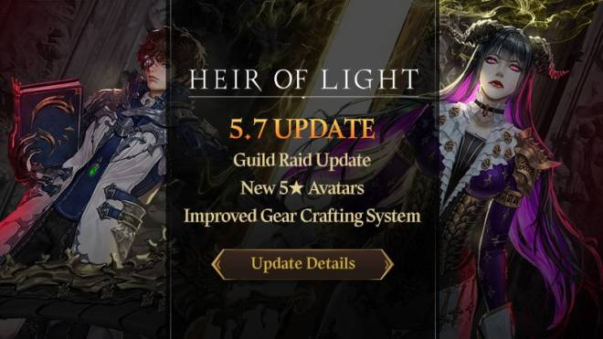 HEIR OF LIGHT: Update Preview & Patch Notes - [Notice] 5.7 Update Notice image 1