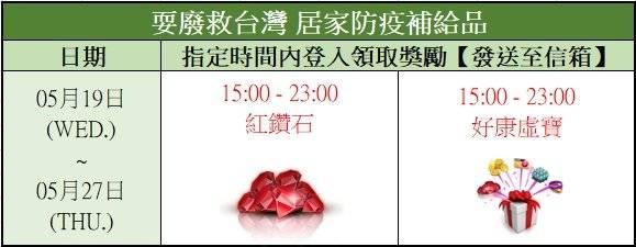 勁舞團M: 活動公告 - 《防疫活動》 耍廢救台灣 登入送好禮 image 2