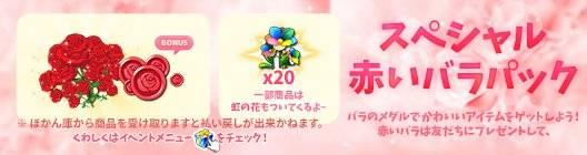 ポケットタウン: event - 【New】3日間限定‼ 赤いバラのスペシャルパック販売中!【7/24 12:00まで】 image 1